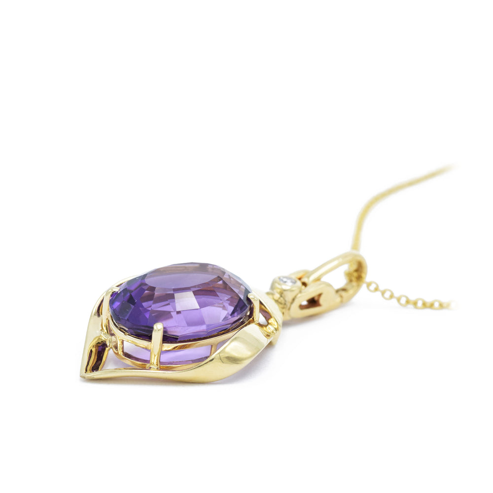 Estate Gold and Amethyst Pendant