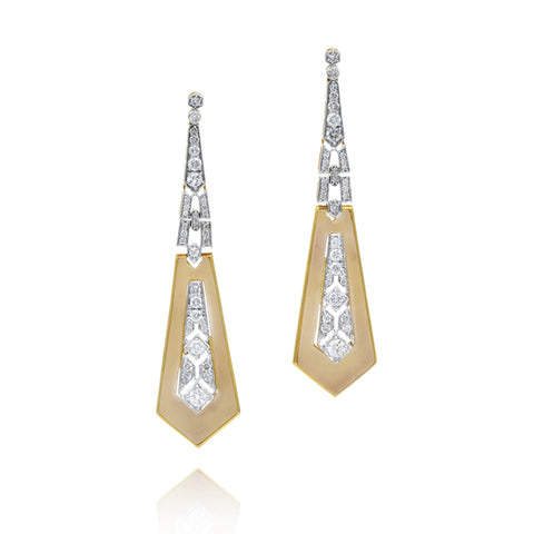 Diamond Deco Tie Earrings