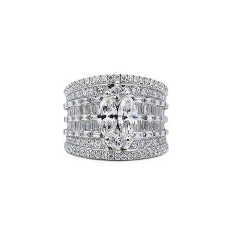 18kt White Gold Certified Diamond Ring