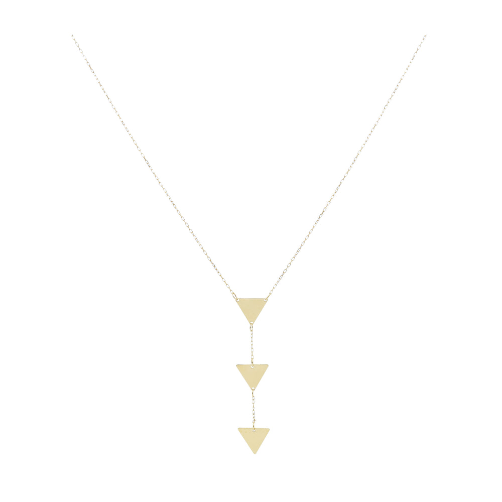 14kt Yellow Gold Triple Drop Triangles