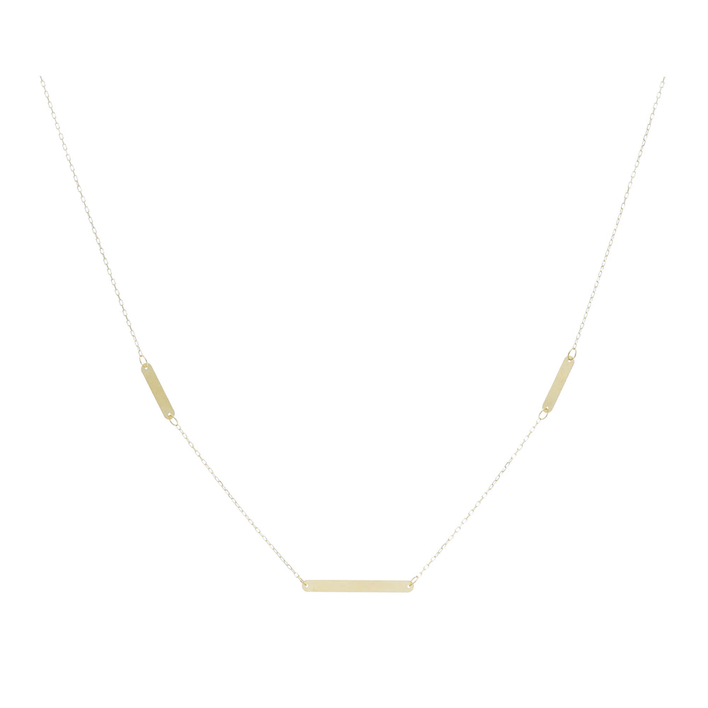 14kt Yellow Gold Multi-Bar Necklace