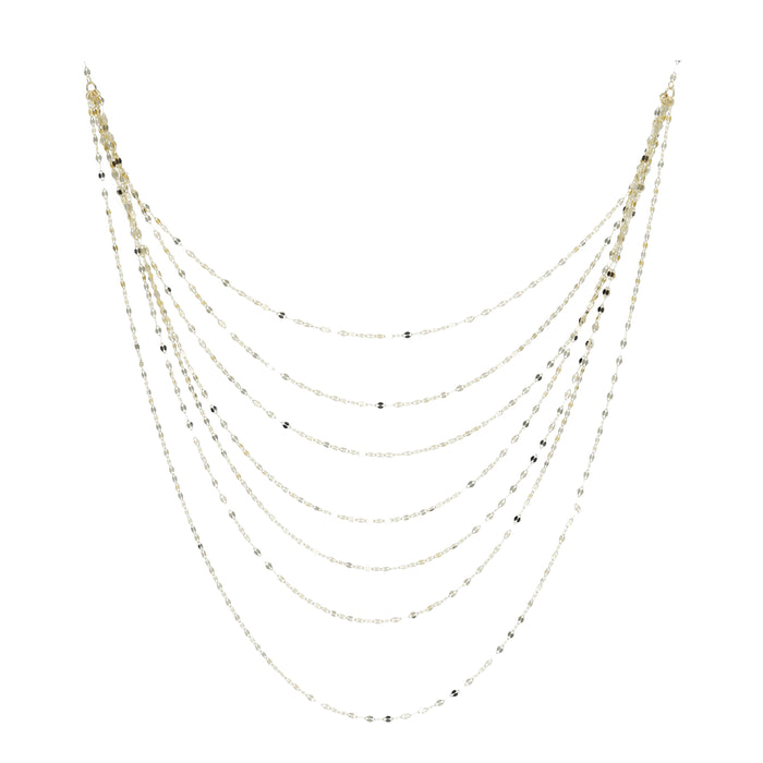 14kt Yellow Gold 7-Layer Necklace