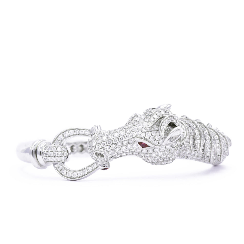Horse Diamond Bangle