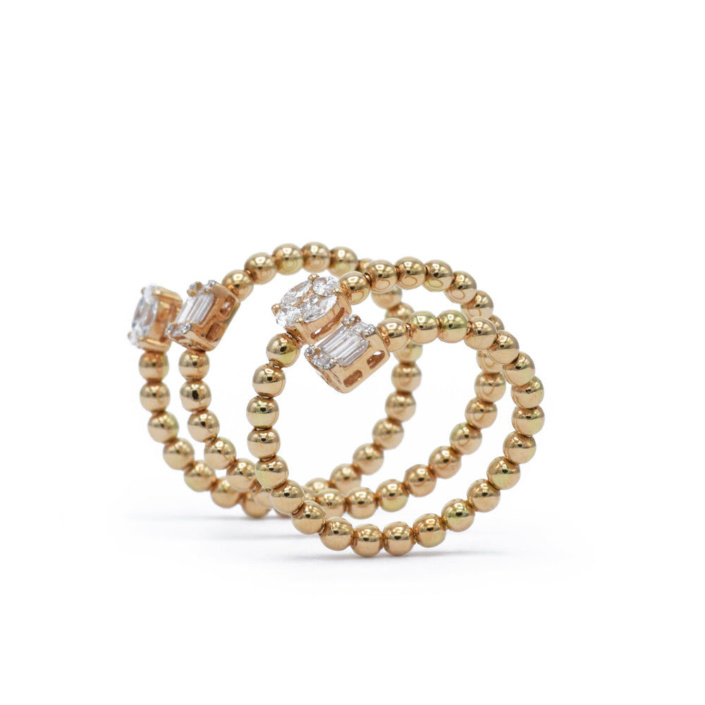 18kt Rose Gold Diamond Wrap Ring