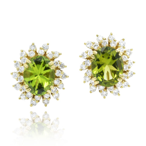Estate Peridot Earrings