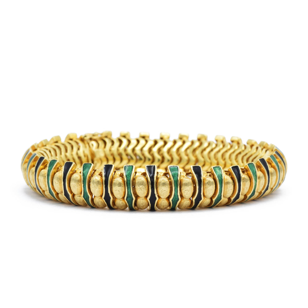 Estate Heavy Snake Link Bracelet