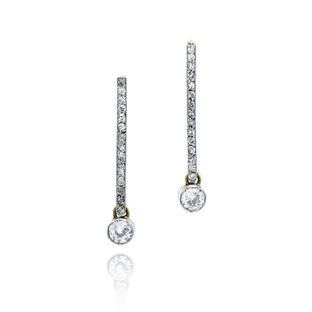 Estate 14kt Gold and Diamond Earrings