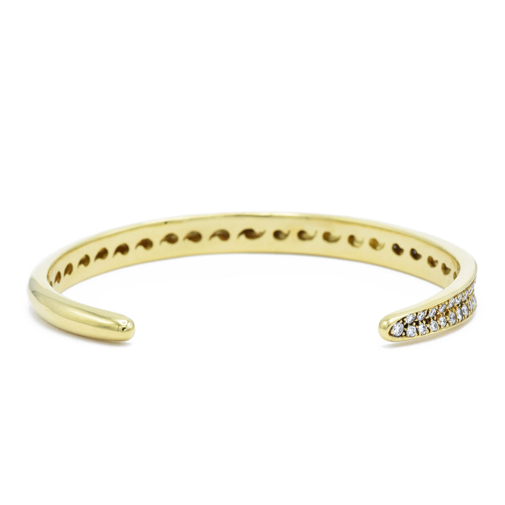 Estate 14kt Gold Diamond Bangle