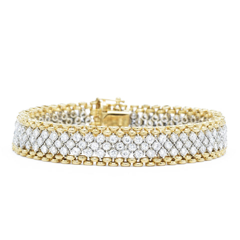 Vintage Gold Diamond Bracelet