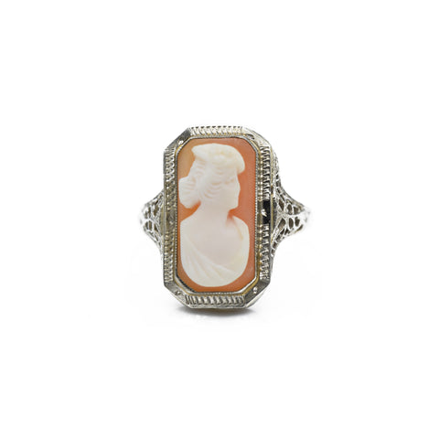 1920s Art Deco Cameo Ring