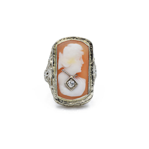 Art Deco Cameo Ring