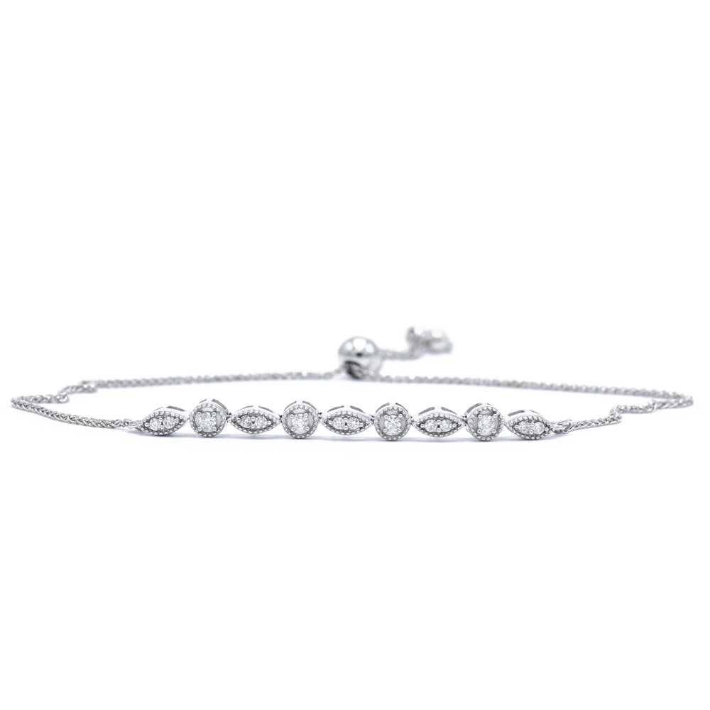 14kt White Gold Adjustable Bracelet