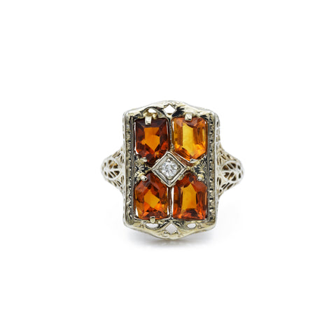 Estate Victorian Era Citrine Ring