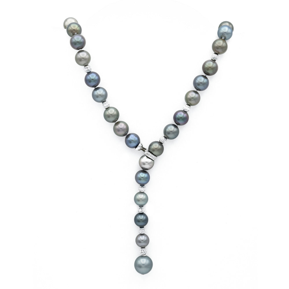 18kt White Gold Tahitian Pearl Necklace