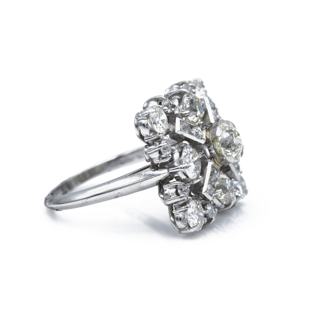 1930s Estate Platinum and Diamond Ring