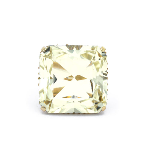 Estate Yellow Gold, Square Citrine Ring