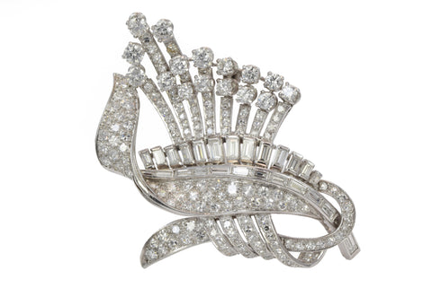 Estate Diamond Brooch