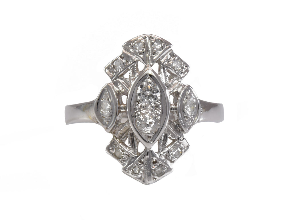 Estate Ring 14k White Gold and .65ct Diamond