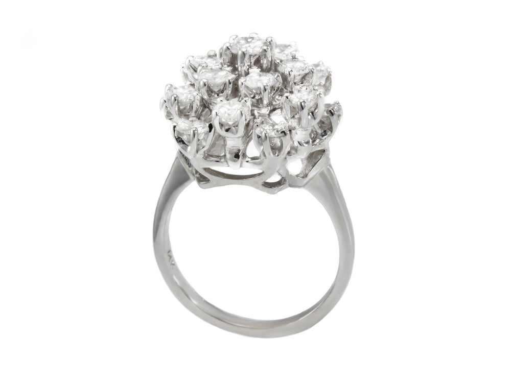 Estate 14kt White Gold 2.0ct Diamond Ring