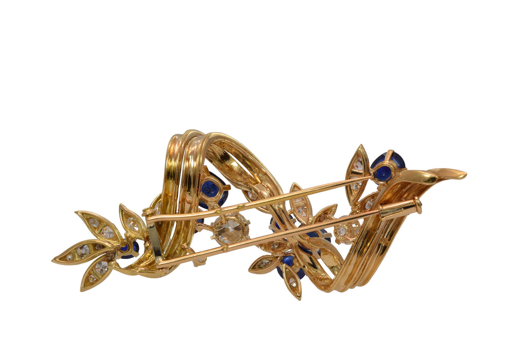 Estate Gold and Sapphire Pin