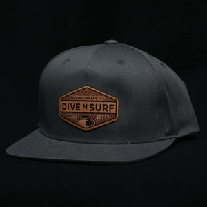 Dive N' Surf Labeled Hex Snapback Hat