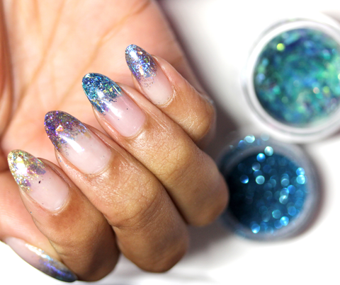 encapsulated mylar gel nail art