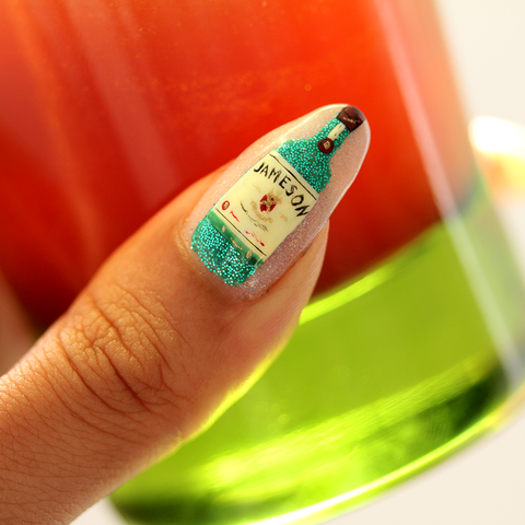 Jameson nail | St. Patrick's Day nail art
