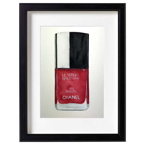 Chanel Dragon bottle watercolor PRINT