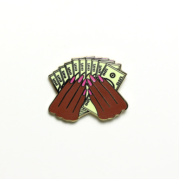 """Prosperity"" 2.0 pin in Nubian"