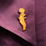 """Golden Rose"" Pin"