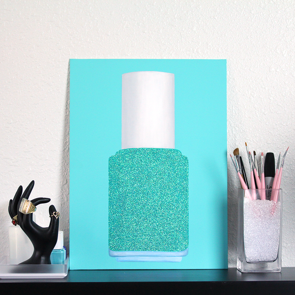 Glitter Polish Portrait - Bahama Blue