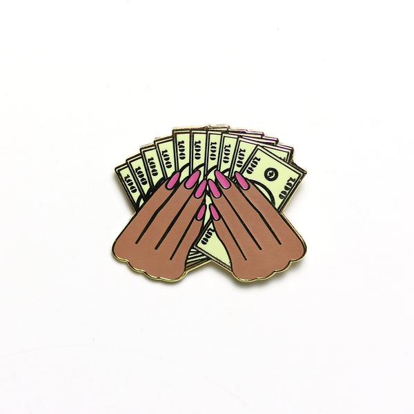 """Prosperity 2.0"" pin in Tan"