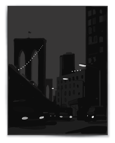 Upgrade to Silkscreenprint Dumbo, Brooklyn (night)