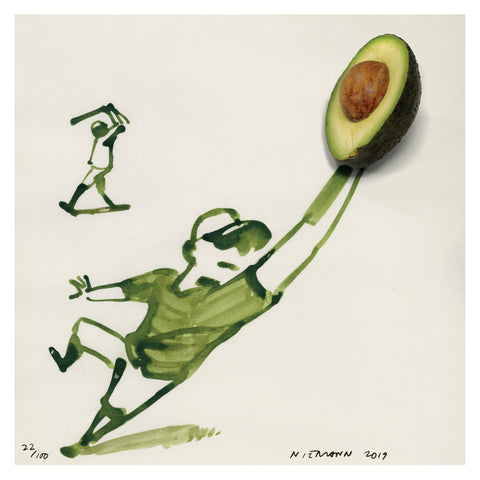 Sunday Sketch (Avocado Baseball)