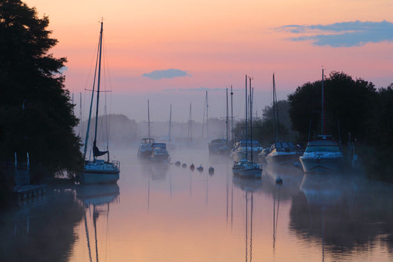 Misty Morning Photograph, River Frome, Wareham