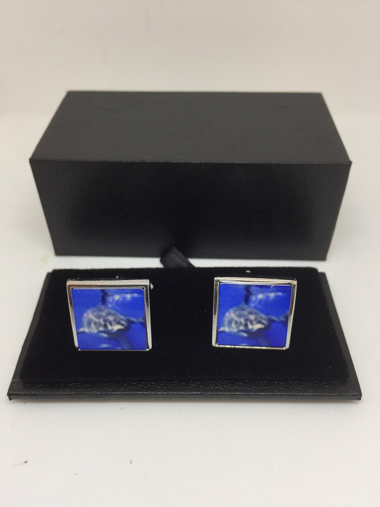 White Shark Ocean Cufflinks