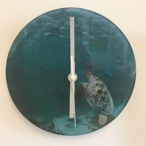 Ocean Glass Clock