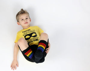 Pride Rainbow Socks BRAVE - Se7enTees