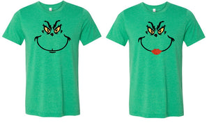 ADULT Mr. & Mrs. Grinch face shirts - Se7enTees