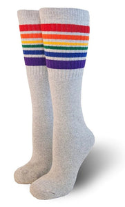 Pride Rainbow Socks HAPPY - Se7enTees