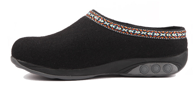 Therafit Heather Black Slippers