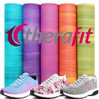 Some of the bold colors offered by Therafit Shoe