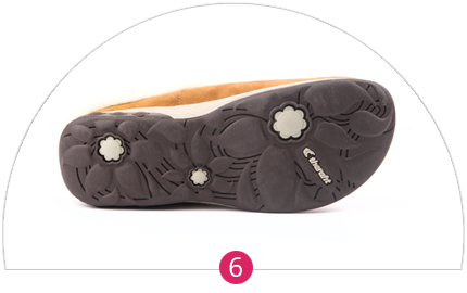 Flexible long-lasting rubber outsole