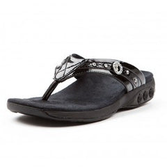 Therafit Black Brittany women's sandal with bling