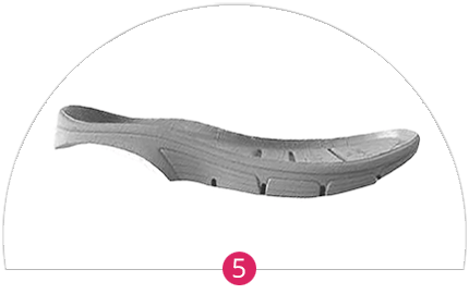 Shock abosorbing wedge