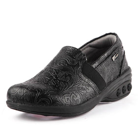 Shoes - Annie Women's Slip Resistant Leather Slip On