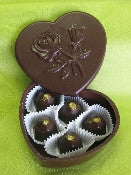 Heart Box with 6 chocolates