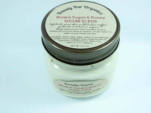 brown sugar scrub exfoliation skin