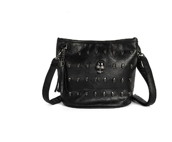 Sugar Skull Bag - Gothic Touch - Tote purse - Black