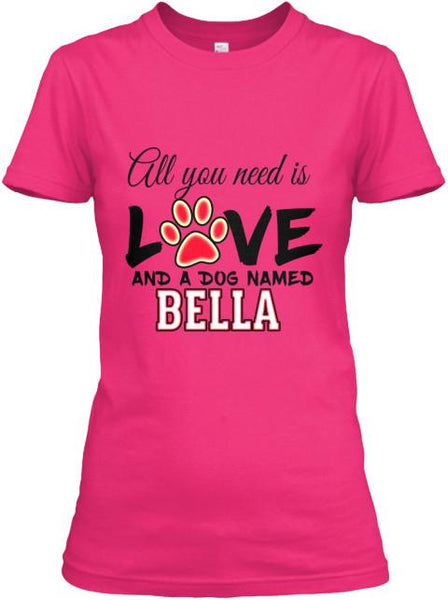 Dog - All You Need Is Love - Pink Custom Dog Shirt